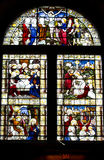 Stain Glass window of Kirk of St Nicholas church, Aberdeen, Scotland Royalty Free Stock Image