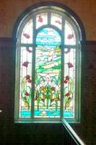 Stain glass window. Section of the Victoria Baths Manchester royalty free stock photography