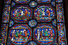 Stain glass windows Royalty Free Stock Images
