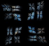 Stain Glass Windows (in a digital world). Part of a series of fractal art Stock Images