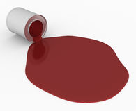 Stain of a paint #1 Royalty Free Stock Photo