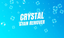 Stain remover design product. Vector cleaner background. Laundry detergent package design. Toilet or bathroom cleanser Stock Photo