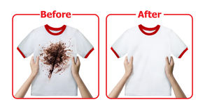 Stain Remover Experiment Royalty Free Stock Image