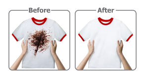 Stain Remover Experiment Stock Image