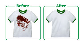 Stain Remover Experiment Royalty Free Stock Photos