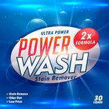 Stain remover laundry detergent product designing template. Vector Royalty Free Stock Images