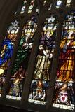 Staind Glass fönster Arkivfoto