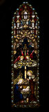 Stained. Windows in a church royalty free stock photos
