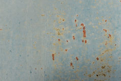 Stained blue concrete plaster Stock Images