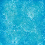 Stained blue plaster wall Royalty Free Stock Image