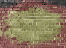 Stained brick wall grunge background stock photography