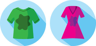 Stained clothes icon Royalty Free Stock Photos
