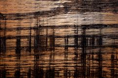 Stained and etched wood abstract background Royalty Free Stock Photo