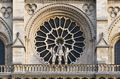 Stained facade window of Notre Dame Royalty Free Stock Photos