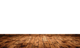 Floor boards and plain white wall  Royalty Free Stock Images
