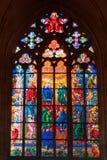 Stained-glass παράθυρο μέσα στην εκκλησία Στοκ Εικόνες