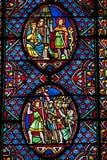 Stained-glass παράθυρο σε Άγιο Gatien στοκ εικόνες