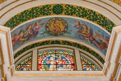 Stained-glass παράθυρο στη Στέλλα Maris στοκ εικόνα με δικαίωμα ελεύθερης χρήσης