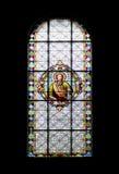 Stained-glass παράθυρο στον καθεδρικό ναό Subotica Στοκ Φωτογραφία
