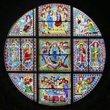 Stained-glass παράθυρο του καθεδρικού ναού της Σιένα, Ιταλία Στοκ Εικόνες
