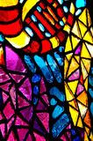 Stained glass. Colorful stained glass in abstract shapes Royalty Free Stock Images