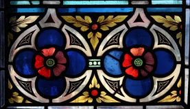 Stained Glass. From the Powder Tower in Prague Royalty Free Stock Photos