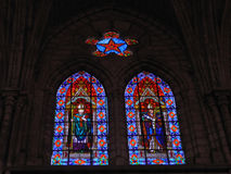 Stained Glass. Window in the Quito Basilica, Ecuador Stock Photos