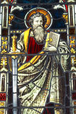 Stained Glass. Image of St Paul from a church in Norfolk, UK Royalty Free Stock Image