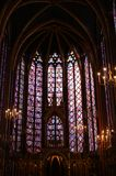 Stained glass. Of a church in Paris stock images