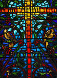 Stained Glass. A detail from a stained glass window stock photos