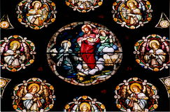 Stained Glass. Depiction of Christ Royalty Free Stock Photos