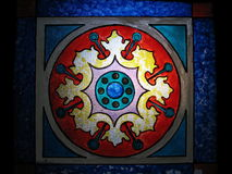 Stained Glass. Of an old church in Portugal Royalty Free Stock Photo