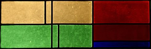 Stained glass. Window in house Anno 1930 royalty free stock images