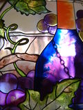 Stained Glass. Beautifully colored stained glass with swirls & spots Stock Photos
