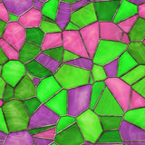 Stained Glass. Seamless Texture Tile Royalty Free Stock Photography