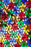 Stained glass. Decorate the wall Stock Photo