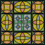 Stained glass. Stylish stained glass in multiple colors Royalty Free Stock Photography