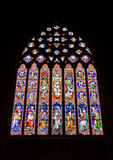 Stained glass. In Melbourne - St. Patrick's Cathedral. Jesus, apostles and saints Royalty Free Stock Photography