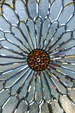 Stained Glass. A close up of a stained glass flower Stock Photography