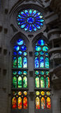 Stained glass. Sagrada familia cathedral colorful stained glass Royalty Free Stock Photography