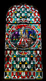 Stained glass. A stained glass in the St. kastor in Koblenz Stock Photo