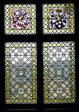 Stained glass. Window in the Cochem castle Royalty Free Stock Photo