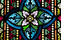 Stained Glass. Details from a Stained Glass Window Stock Photos