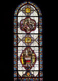 Stained glass. The stained glass windows of the Basilica of the Immaculate Conception in Lourdes, France Royalty Free Stock Image