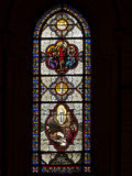 Stained glass. The stained glass windows of the Basilica of the Immaculate Conception in Lourdes, France Royalty Free Stock Photos