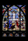 Stained-Glass. Religious stained glass window in a church Royalty Free Stock Photo