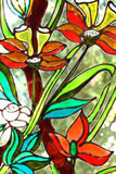 Stained glass. A view with stained glass window details.I am the author of this painting Royalty Free Stock Images