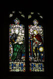 Stained glass. Cathedral stained glass in a church Royalty Free Stock Images