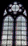 Stained glass. In the notre dam cathedral Royalty Free Stock Image