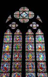 Stained glass. In the notre dam cathedral Stock Photography